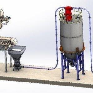 Transporte pneumático de grãos