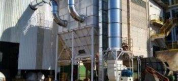 Sistema de exaustão de pó industrial